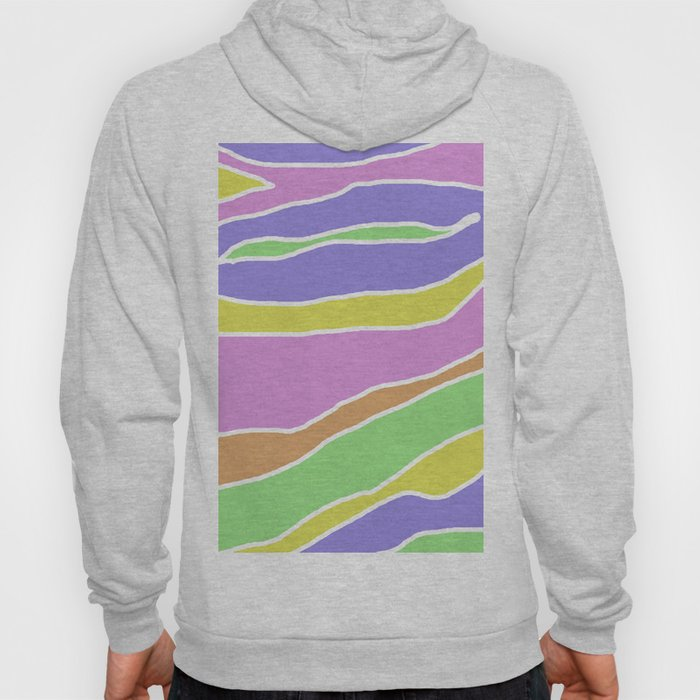 Pastel Current - Pink, blue, yellow and green pastel abstract painting Hoody