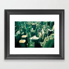 Green City Framed Art Print