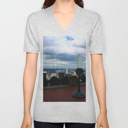 Top of the Rock View over Manhattan Unisex V-Neck