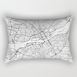 Nantes Map White Rectangular Pillow