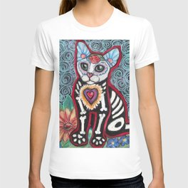 Day of the Dead Cat T-shirt