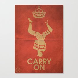 Keep Calm & Carry On BDSM Canvas Print