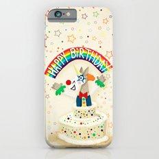 Happy Birthday Cake Unicorn iPhone 6 Slim Case