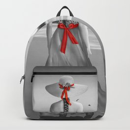 The lady at the sea Backpack