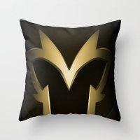 magneto Throw Pillows featuring Magneto Deco by Sara Machajewski