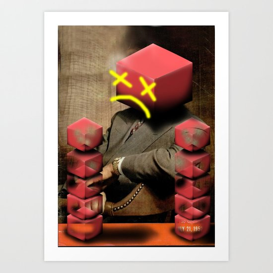 Boxhead Art Print