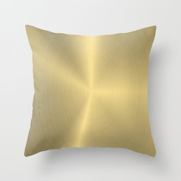 Shiny faux gold background Throw Pillow