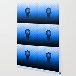 D20 All I Do Is Crit!  Blue Ombre Wallpaper