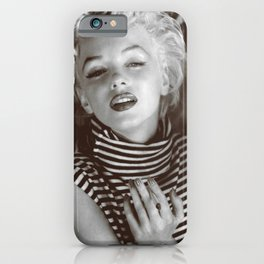 Monroe Black and White Portrait iPhone Case
