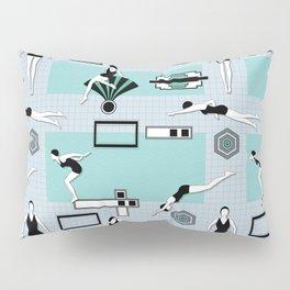Art Deco Swimmers Pillow Sham