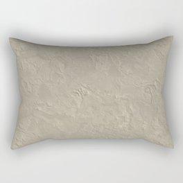 Beige Rough Plastering Texture Rectangular Pillow