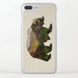 North American Brown Bear Clear iPhone Case