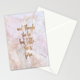 She is Fierce - Marble Stationery Cards
