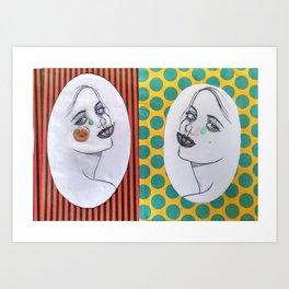 dama del paraguas Art Print