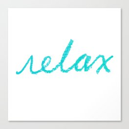 relax aqua Canvas Print