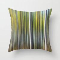 blur Throw Pillows featuring Blur by Angela King-Jones