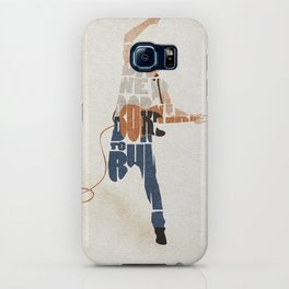 Typography Art of Boss of the Rock Bruce Frederick Springsteen iPhone Case