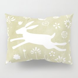 Hare in the Meadow Pillow Sham