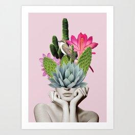 Cactus Lady Art Print