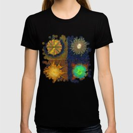 Unijugous Threadbare Flowers  ID:16165-010211-80730 T-shirt