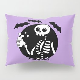 Death Before Decaf // Purple Pillow Sham