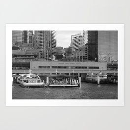 Circular Quay, Sydney Harbour Art Print