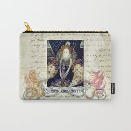 Historical Figures - Queen Elizabeth First of England - Vintage Style (2 - design by ACCI) Carry-All Pouch
