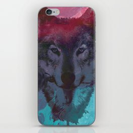 the wolf 7 iPhone Skin