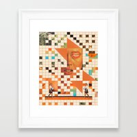 poem Framed Art Prints featuring Orange poem by Mariano Peccinetti