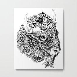 Bison v2 Metal Print