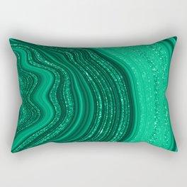 Emerald Green Agate Rectangular Pillow