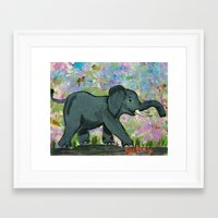 baby elephant Framed Art Prints featuring Baby Elephant by gretzky