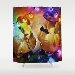 Holiday Celebration Shower Curtain