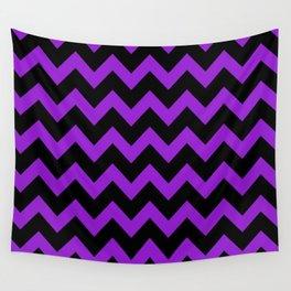 Purple Chevron Wall Tapestry