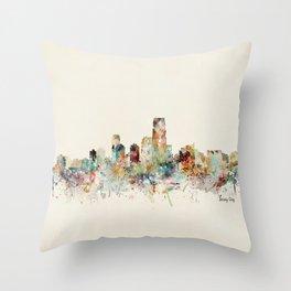 jersey city new jersey Throw Pillow