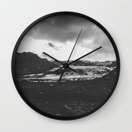 Ice giant - black and white landscape photography Wall Clock