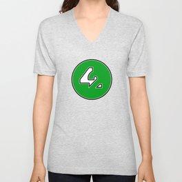 42 - Green Unisex V-Neck