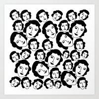 women Art Prints featuring Women by Emmanuelle Ly