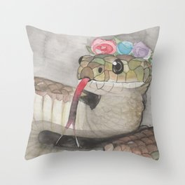 snakeflowers Throw Pillow