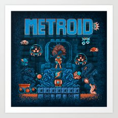 Metroids Art Print