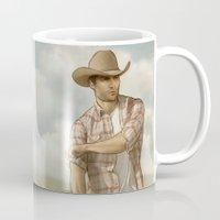 derek hale Mugs featuring Cowboy Derek by maichan