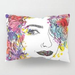 spring girl Pillow Sham