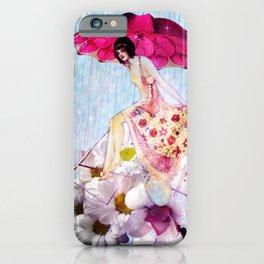 Rainy Bouquet Girl iPhone Case