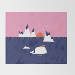 Little Whale Throw Blanket