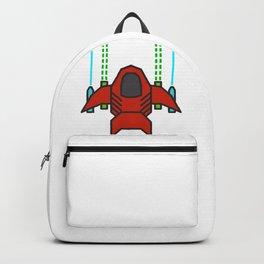8bit Spaceship Game Shooter Backpack