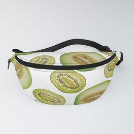 Kiwi - Honey Melon pattern white Fanny Pack