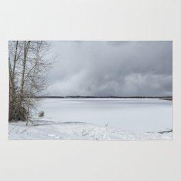 Serenity - Jackson Lake in April Rug