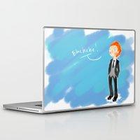 tom hiddleston Laptop & iPad Skins featuring Tom Hiddleston - Ehehehe! by Delucienne Maekerr