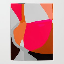 Abstract in Pink, Brown and Grey Poster