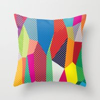 dots Throw Pillows featuring Dots by Joe Van Wetering